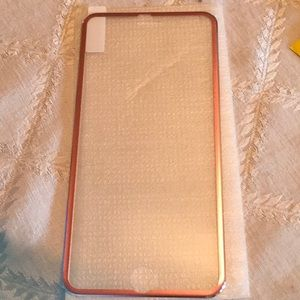 iPhone 6s Plus screen protector w/ Rose gold edges